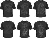 Zwarte T-shirts Royalty-vrije Stock Foto