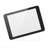 Zwarte tabletPC op witte achtergrond Royalty-vrije Stock Fotografie