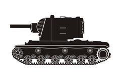 Zwarte tank kv-2 Stock Foto