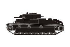 Zwarte tank t-28 Stock Afbeelding