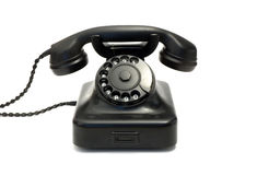 Zwarte telefoon Stock Fotografie