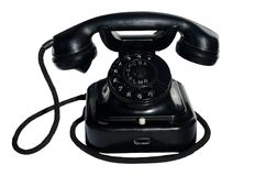 Zwarte telefoon Stock Afbeelding