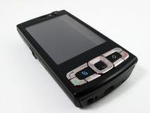 Zwarte telefoon Royalty-vrije Stock Foto's