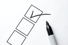 Zwarte Teller met Checkbox en Controle Royalty-vrije Stock Afbeelding
