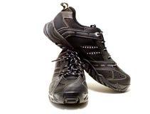 Zwarte tennisschoenen Royalty-vrije Stock Foto's