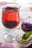 Zwarte thee Royalty-vrije Stock Foto's