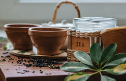 Zwarte thee Royalty-vrije Stock Afbeeldingen