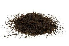 Zwarte thee losse droge theeblaadjes Royalty-vrije Stock Fotografie