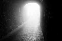 Zwarte tunnel Royalty-vrije Stock Afbeeldingen