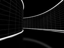 Zwarte tunnel Stock Afbeeldingen