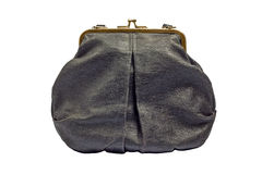 Zwarte uitstekende handtasbeurs Royalty-vrije Stock Fotografie