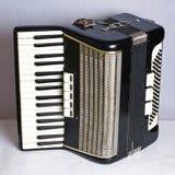 Zwarte uitstekende harmonika Stock Fotografie