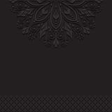 Zwarte uitstekende ornamentachtergrond Stock Afbeeldingen