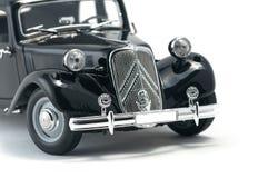 Zwarte uitstekende retro auto Royalty-vrije Stock Foto