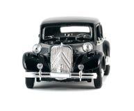 Zwarte uitstekende retro auto Royalty-vrije Stock Foto's