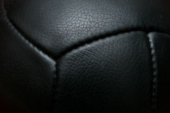 Zwarte uitstekende voetbal Stock Afbeelding