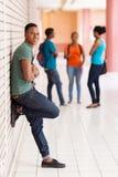 Zwarte universitaire student royalty-vrije stock foto