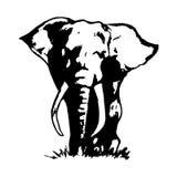 Zwarte 1 van de olifantsabstractie Stock Fotografie