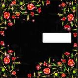 Zwarte van de papaverkleur banner als achtergrond Stock Fotografie
