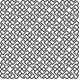 Zwarte van onderling verbonden het vierkant van de lijnenrechthoek Stock Afbeeldingen