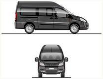 Zwarte VectorBestelwagen Royalty-vrije Stock Foto