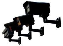 Zwarte veiligheidsmonitor Stock Afbeelding