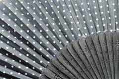 Zwarte ventilator Royalty-vrije Stock Foto