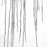 Zwarte verfdruppels stock afbeelding