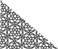 Zwarte verfraaide driehoekige hoek Royalty-vrije Stock Foto's