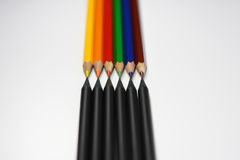 Zwarte versus Kleur Stock Fotografie