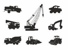 Zwarte vervoerpictogrammen Stock Foto's