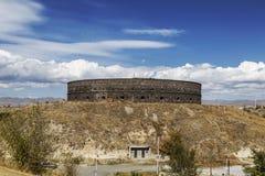 Zwarte vesting of sev-Berd in Gyumri Het werd gebouwd in het midden van de XIX eeuw na het eind van de Russisch-Turkse oorlog van royalty-vrije stock afbeeldingen