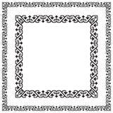 Zwarte vierkante kaders, geometrische vormen Stock Fotografie