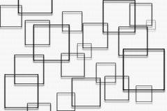 Zwarte vierkanten op witte gevormde achtergrond - digitaal grafisch abstract behang royalty-vrije illustratie