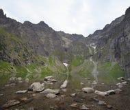 Zwarte Vijver, Bergen Tatra Stock Afbeeldingen