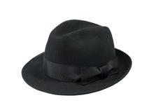 Zwarte vilten hoed Stock Foto's