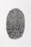 Zwarte vingerafdruk op een document Royalty-vrije Stock Afbeelding