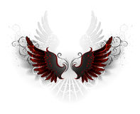 Zwarte vleugels vector illustratie