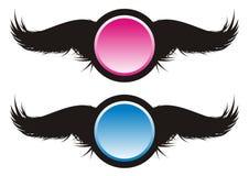 Zwarte Vleugels Royalty-vrije Stock Afbeeldingen