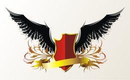 Zwarte vleugels royalty-vrije illustratie