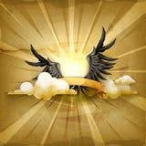 Zwarte vleugels, vectorachtergrond royalty-vrije illustratie