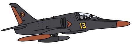Zwarte vliegtuigen Stock Foto's