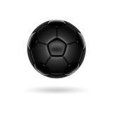 Zwarte voetbalbal Stock Afbeelding