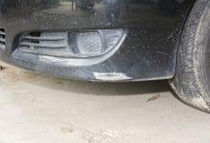 Zwarte voor gekraste bumperauto royalty-vrije stock foto's