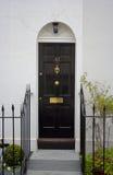 Zwarte voordeur Stock Afbeelding