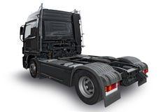 Zwarte vrachtwagen Stock Foto