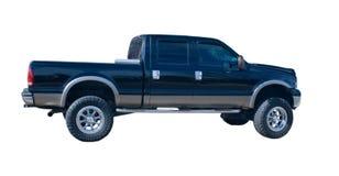 Zwarte vrachtwagen met vier deuren Stock Fotografie