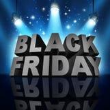 Zwarte vrijdag Stock Afbeelding