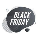 Zwarte vrijdag Organisch ontwerp van vloeibare kleuren abstracte geometrische vormen stock illustratie