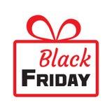 Zwarte vrijdag Rode giftdoos, overzichtsontwerp Vector vector illustratie